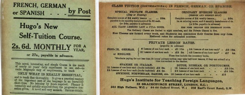 Hugo Advertisement (correspondance, class tuition).JPG