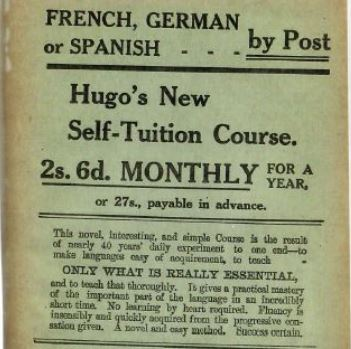 Hugo's Self-Tuition (advertisement).JPG