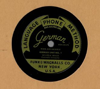 Funk and Wagnalls Language Phone Method (German) 78 rpm records.JPG